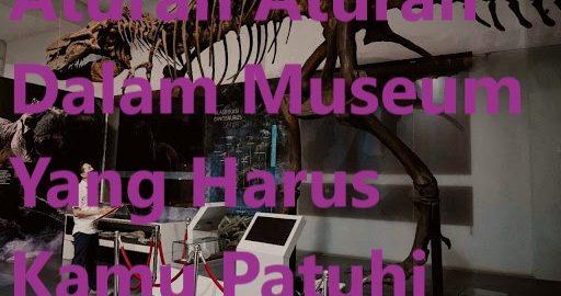 Aturan Aturan Dalam Museum Yang Harus Kamu Patuhi